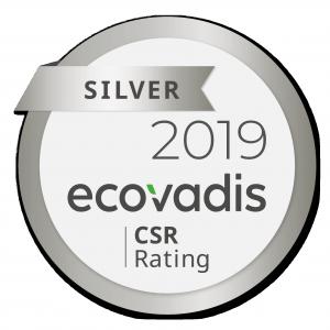 logo ecovadis niveau silver 2019 deca propreté