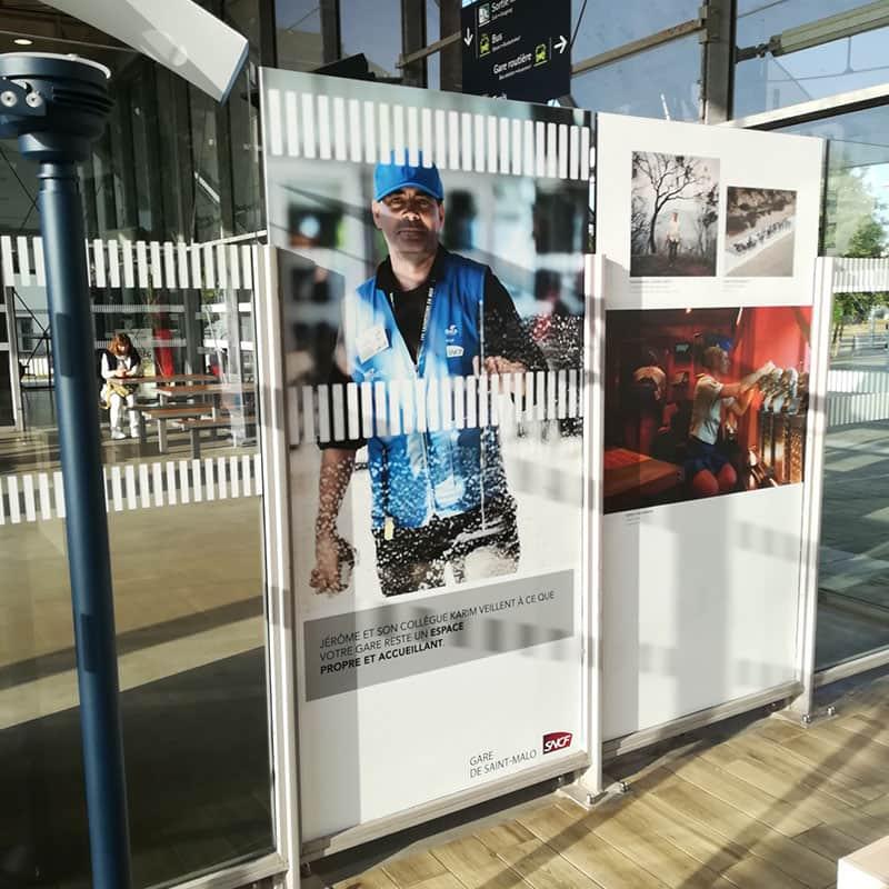 campagne sensibilisation client sncf propreté nettoyage gare