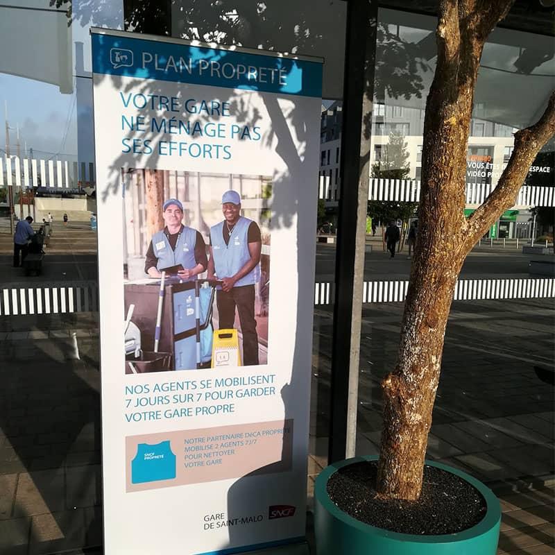 agents propreté gare nettoyage hall st malo