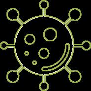 virus covid blanc
